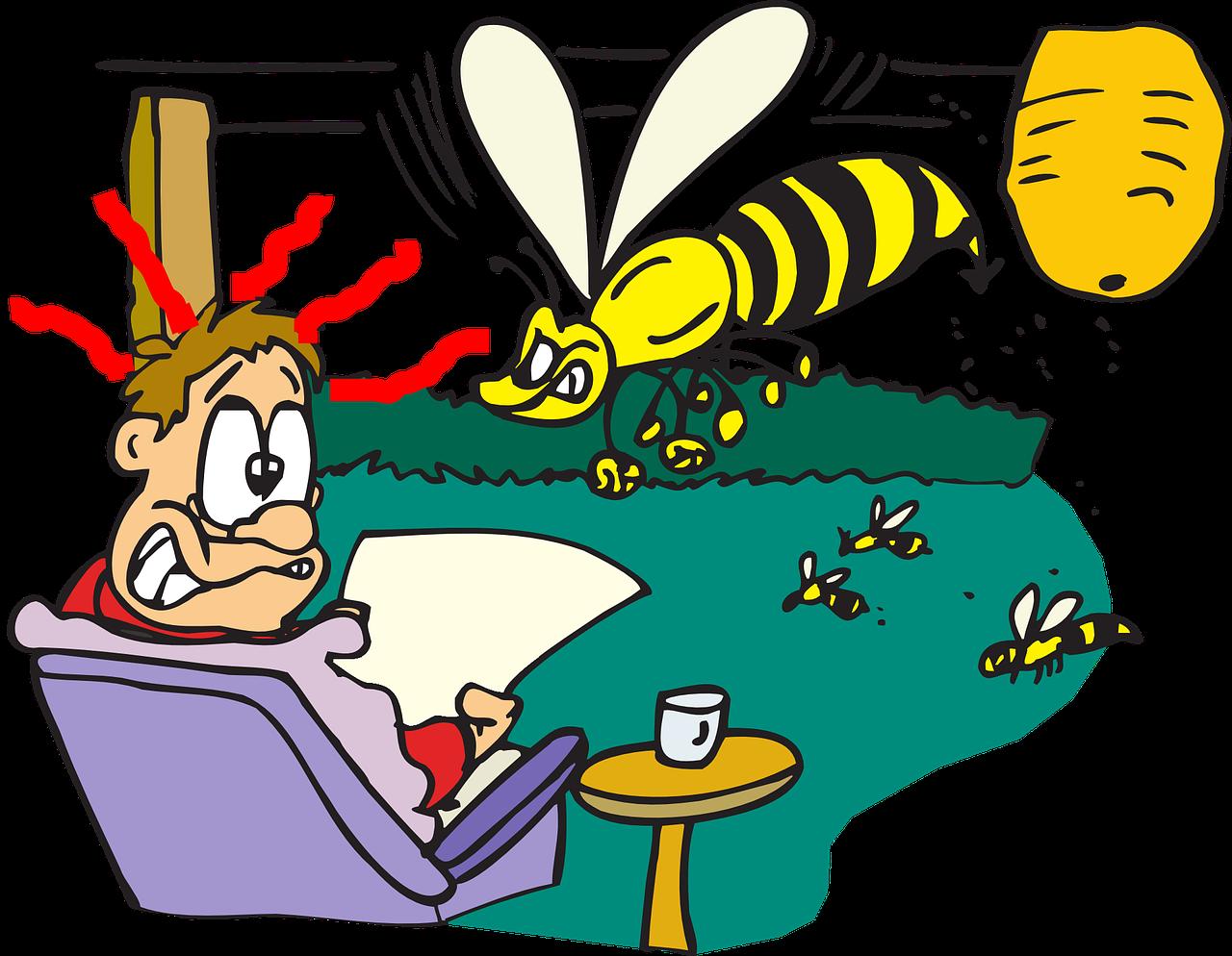 Scheidsrechters aangevallen door kolonie wespen